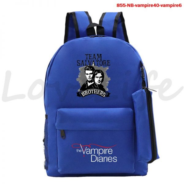 High Quality The Vampire Diaries Backpack For Teenage Girls Boys Book Bags 2Pcs Set Canvas School 1 - Vampire Diaries Merch