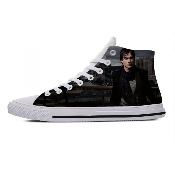 Hot Cool Fashion Summer High Quality Sneakers Handiness Casual Shoes 3D Printed For Men Women The 8 - Vampire Diaries Merch