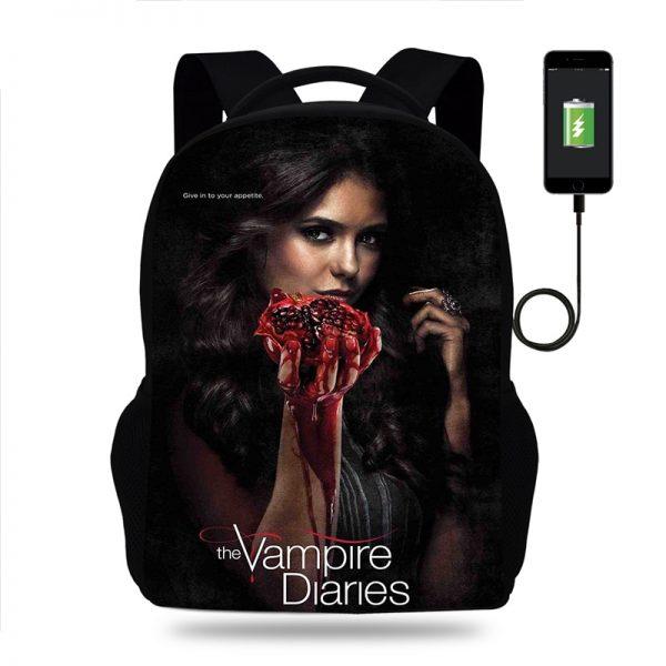 Hot The Vampire Diaries Backpack for Boy Girls Teenager School Bags Children Student Knapsack Men Women 1 - Vampire Diaries Merch