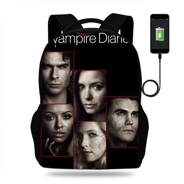 Hot The Vampire Diaries Backpack for Boy Girls Teenager School Bags Children Student Knapsack Men Women 2 - Vampire Diaries Merch