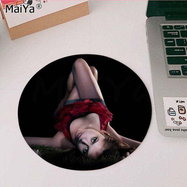 MaiYa The Vampire Diaries Stefan Damon Salvatore gamer play mats round gaming Mousepad Anti Slip Laptop 4 - Vampire Diaries Merch