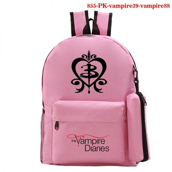 Mochila School Bag The Vampire Diaries Backpack Women Men Travel Bagpack Rugzak Plecak Back To School 1 - Vampire Diaries Merch