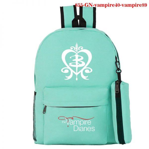 Mochila School Bag The Vampire Diaries Backpack Women Men Travel Bagpack Rugzak Plecak Back To School 2 - Vampire Diaries Merch
