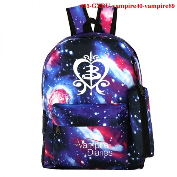 Mochila School Bag The Vampire Diaries Backpack Women Men Travel Bagpack Rugzak Plecak Back To School 3 - Vampire Diaries Merch