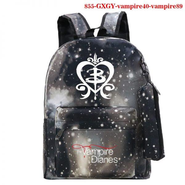 Mochila School Bag The Vampire Diaries Backpack Women Men Travel Bagpack Rugzak Plecak Back To School 4 - Vampire Diaries Merch