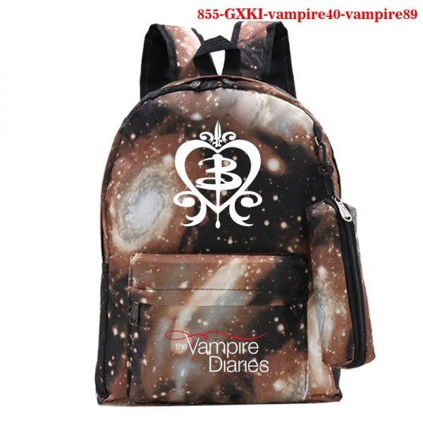 Mochila School Bag The Vampire Diaries Backpack Women Men Travel Bagpack Rugzak Plecak Back To School 5 - Vampire Diaries Merch