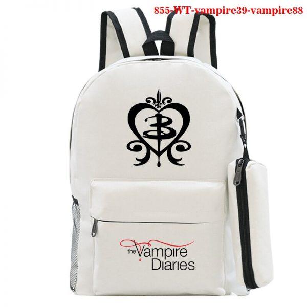 Mochila School Bag The Vampire Diaries Backpack Women Men Travel Bagpack Rugzak Plecak Back To School - Vampire Diaries Merch