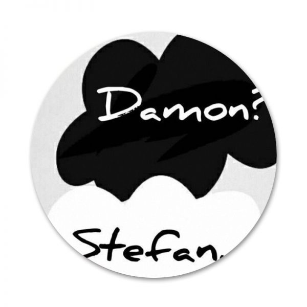 New ArrivalThe Vampire Diaries Damon Salvatore Badge Brooch Pin Accessories For Clothes Backpack Decoration gift 2 - Vampire Diaries Merch