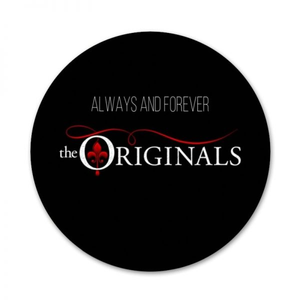 New ArrivalThe Vampire Diaries Damon Salvatore Badge Brooch Pin Accessories For Clothes Backpack Decoration gift 5 - Vampire Diaries Merch