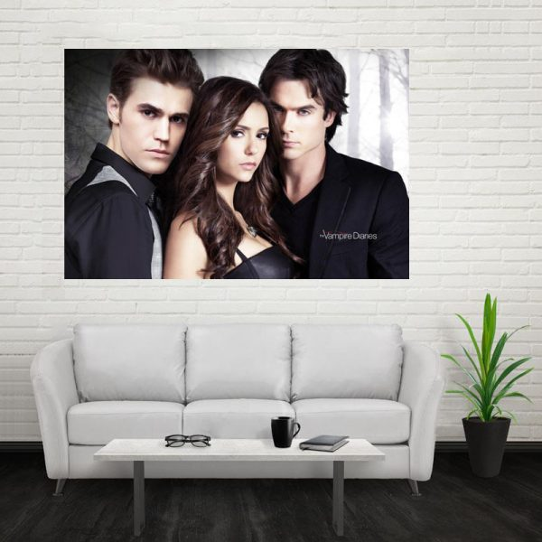 Nice The Vampire Diaries Poster Custom Canvas Poster Art Home Decoration Cloth Fabric Wall Poster Print 1 - Vampire Diaries Merch
