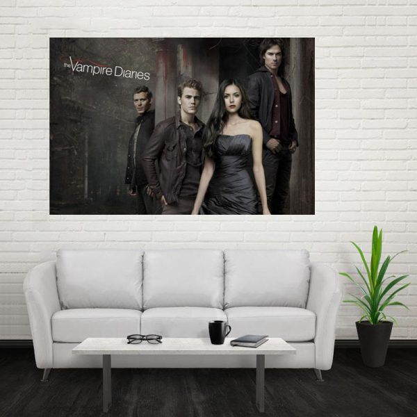 Nice The Vampire Diaries Poster Custom Canvas Poster Art Home Decoration Cloth Fabric Wall Poster Print 2 - Vampire Diaries Merch