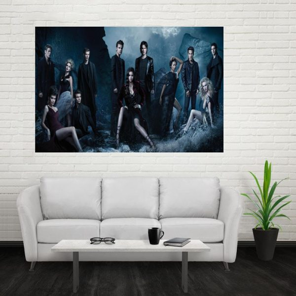 Nice The Vampire Diaries Poster Custom Canvas Poster Art Home Decoration Cloth Fabric Wall Poster Print 3 - Vampire Diaries Merch