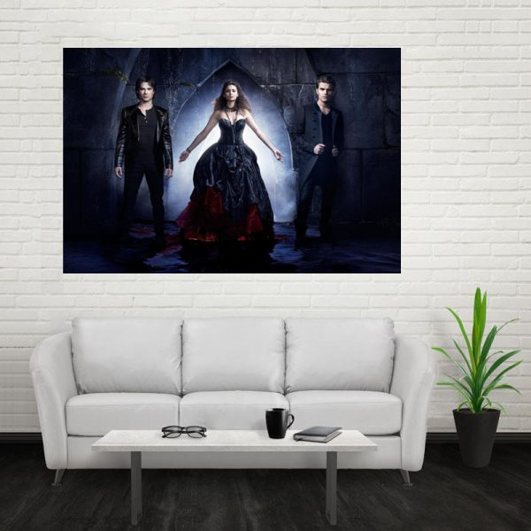 Nice The Vampire Diaries Poster Custom Canvas Poster Art Home Decoration Cloth Fabric Wall Poster Print 4 - Vampire Diaries Merch