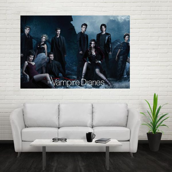 Nice The Vampire Diaries Poster Custom Canvas Poster Art Home Decoration Cloth Fabric Wall Poster Print 5 - Vampire Diaries Merch