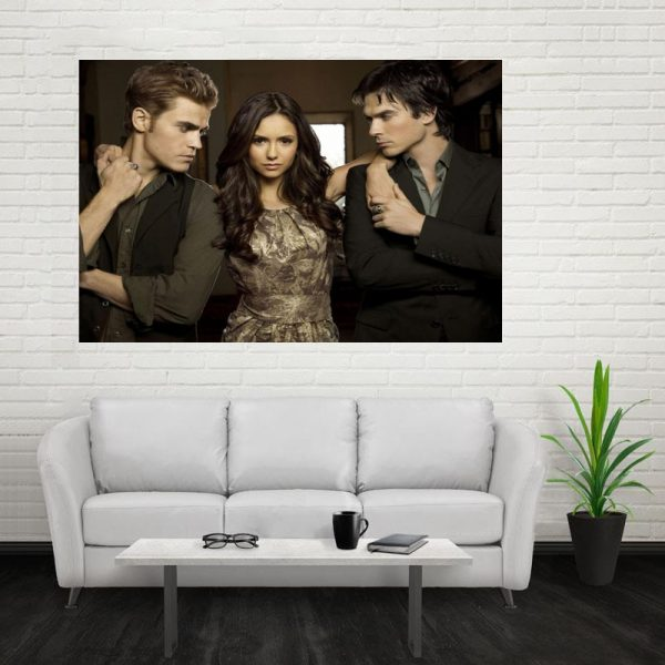 Nice The Vampire Diaries Poster Custom Canvas Poster Art Home Decoration Cloth Fabric Wall Poster Print - Vampire Diaries Merch