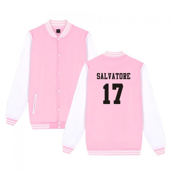 Salvatore 17 Vampire Diaries Mystic Falls Timberwolves Sweatshirt Baseball Jacket Women Men Uniform Coat Winter Jackets 2 - Vampire Diaries Merch