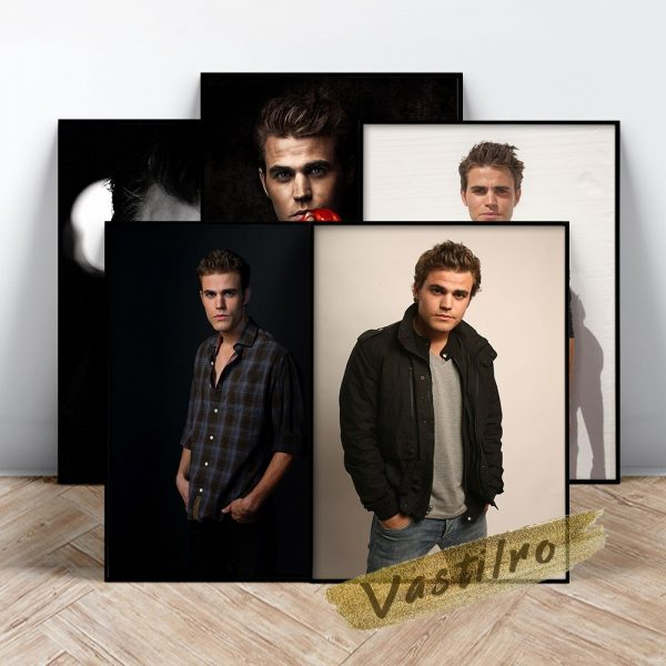 Stefan Salvatore Poster Handsome Man Art Prints The Vampire Diaries Role Wall Picture Fictional Character Portrait 1 - Vampire Diaries Merch