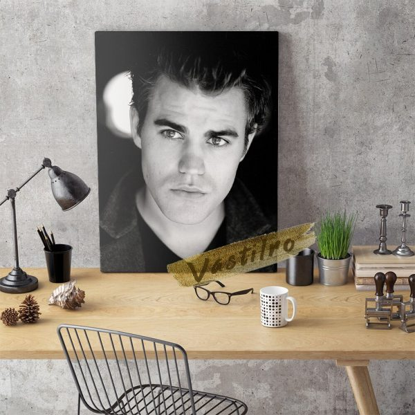 Stefan Salvatore Poster Handsome Man Art Prints The Vampire Diaries Role Wall Picture Fictional Character Portrait 3 - Vampire Diaries Merch