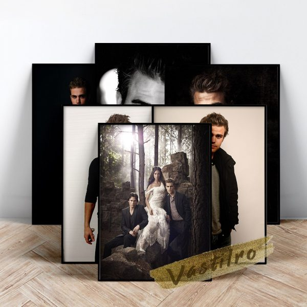 Stefan Salvatore Poster Handsome Man Art Prints The Vampire Diaries Role Wall Picture Fictional Character Portrait - Vampire Diaries Merch