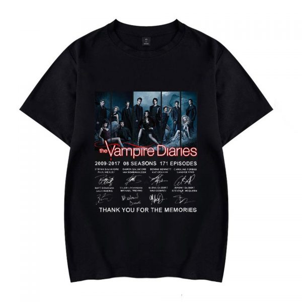 Collector's edition - Tee-shirt with actors' signatures VPD0109 Black / XS Official Vampire Diaries Merch