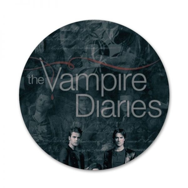 The Originals Vampire Diaries Badge Brooch Pin Accessories For Clothes Backpack Decoration gift 5 - Vampire Diaries Merch