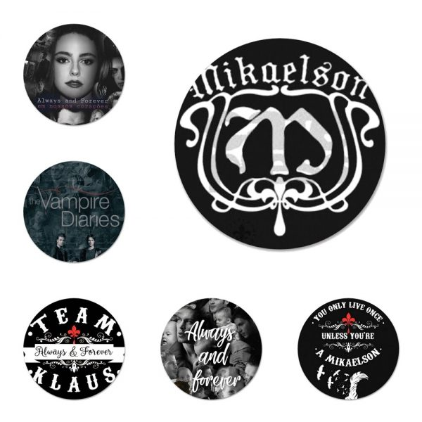 The Originals Vampire Diaries Badge Brooch Pin Accessories For Clothes Backpack Decoration gift - Vampire Diaries Merch