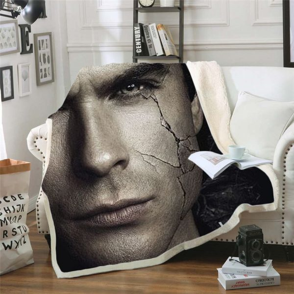 The Vampire Diaries 3d printed fleece blanket for Beds Hiking Picnic Thick Quilt Bedspread Sherpa Throw 10 - Vampire Diaries Merch