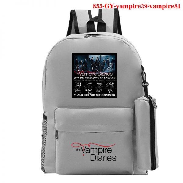 The Vampire Diaries Backpack Girls School Bag with Pencil Case Teenager Kids Purse Bag The Vampire 2 - Vampire Diaries Merch