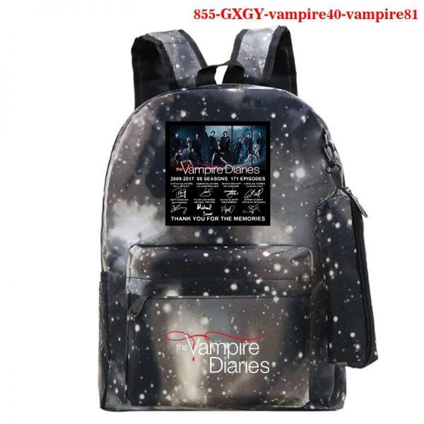 The Vampire Diaries Backpack Girls School Bag with Pencil Case Teenager Kids Purse Bag The Vampire - Vampire Diaries Merch