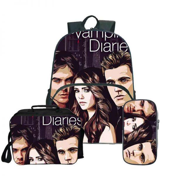 The Vampire Diaries Backpack Laptop Backpack women men Backbag Travel Daypacks School Bookbag Backpacks with pencil 3 - Vampire Diaries Merch