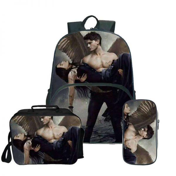 The Vampire Diaries Backpack Laptop Backpack women men Backbag Travel Daypacks School Bookbag Backpacks with pencil 4 - Vampire Diaries Merch