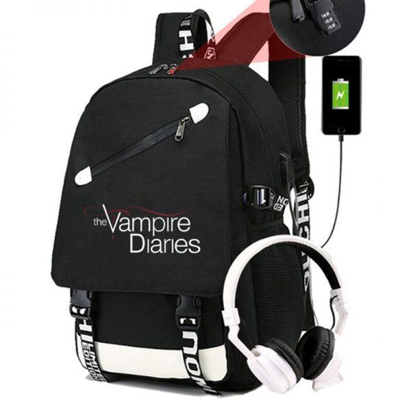 The Vampire Diaries Backpack Students School Bags Cool New Pattern Knapsack for Men Women Teens Bookbag 4 - Vampire Diaries Merch