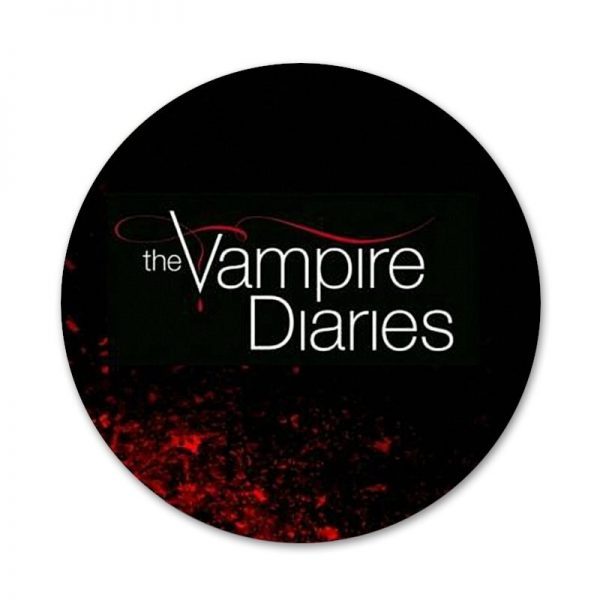 The Vampire Diaries Badge Brooch Pin Accessories For Clothes Backpack Decoration gift 10 - Vampire Diaries Merch