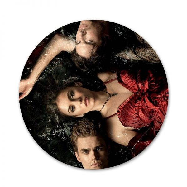 The Vampire Diaries Badge Brooch Pin Accessories For Clothes Backpack Decoration gift 11 - Vampire Diaries Merch