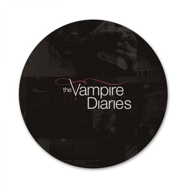 The Vampire Diaries Badge Brooch Pin Accessories For Clothes Backpack Decoration gift 58mm 1 - Vampire Diaries Merch