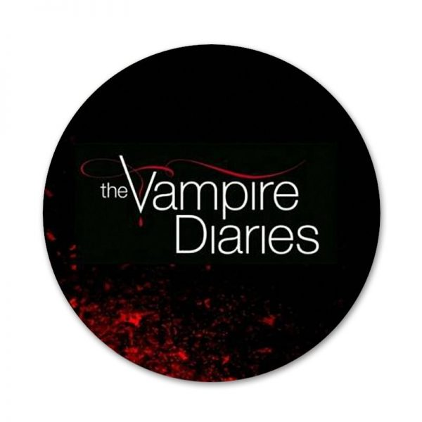 The Vampire Diaries Badge Brooch Pin Accessories For Clothes Backpack Decoration gift 58mm 5 - Vampire Diaries Merch