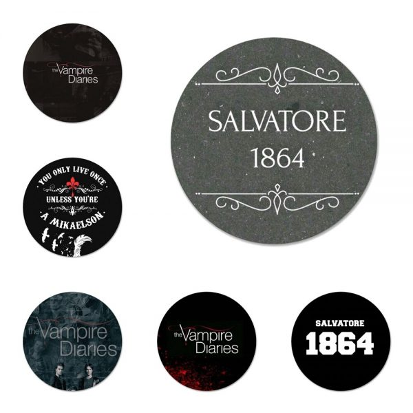The Vampire Diaries Badge Brooch Pin Accessories For Clothes Backpack Decoration gift 58mm - Vampire Diaries Merch