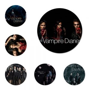 The Vampire Diaries Badge Brooch Pin Accessories For Clothes Backpack Decoration gift 6 - Vampire Diaries Merch