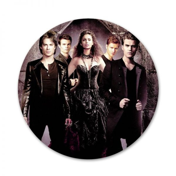 The Vampire Diaries Badge Brooch Pin Accessories For Clothes Backpack Decoration gift 7 - Vampire Diaries Merch