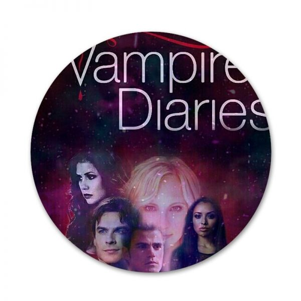 The Vampire Diaries Badge Brooch Pin Accessories For Clothes Backpack Decoration gift 8 - Vampire Diaries Merch