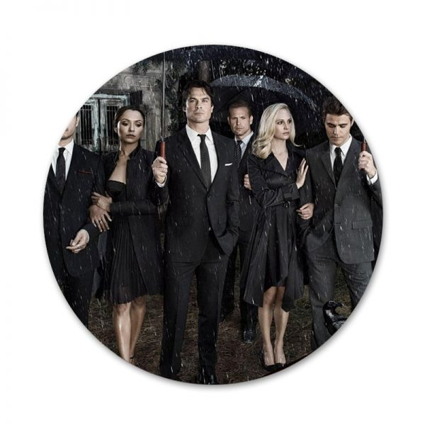 The Vampire Diaries Badge Brooch Pin Accessories For Clothes Backpack Decoration gift 9 - Vampire Diaries Merch