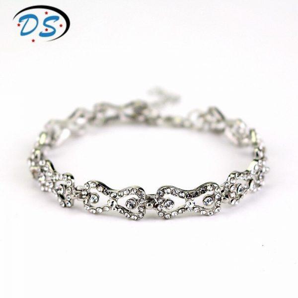 The Vampire Diaries Charm Bracelet Shiny Rhinestones Bow Chain Bangle Bracelets a Bracelet for Women Jewelry 1 - Vampire Diaries Merch