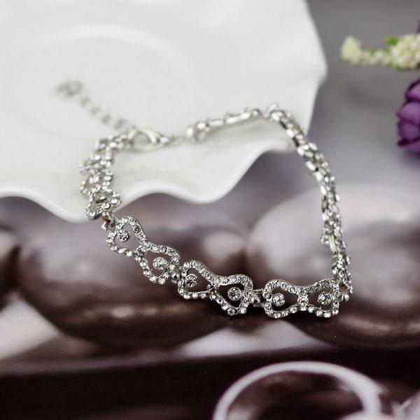 The Vampire Diaries Charm Bracelet Shiny Rhinestones Bow Chain Bangle Bracelets a Bracelet for Women Jewelry 2 - Vampire Diaries Merch