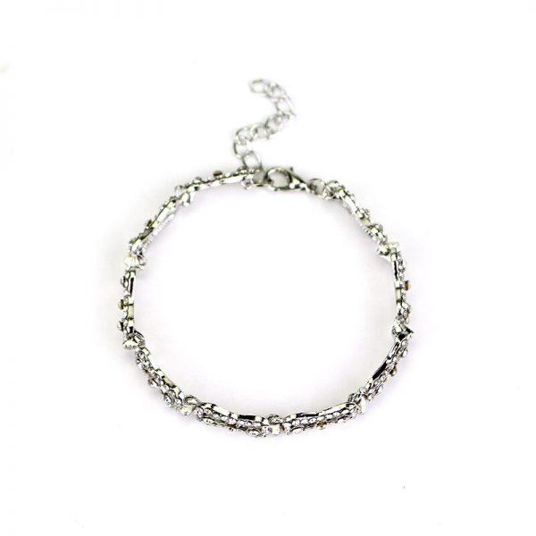 The Vampire Diaries Charm Bracelet Shiny Rhinestones Bow Chain Bangle Bracelets a Bracelet for Women Jewelry 3 - Vampire Diaries Merch