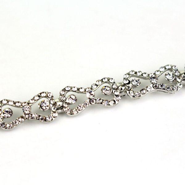 The Vampire Diaries Charm Bracelet Shiny Rhinestones Bow Chain Bangle Bracelets a Bracelet for Women Jewelry 4 - Vampire Diaries Merch