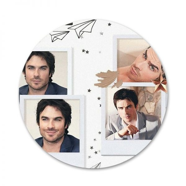 The Vampire Diaries Damon Salvatore Badge Brooch Pin Accessories For Clothes Backpack Decoration gift 3 - Vampire Diaries Merch