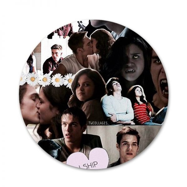 The Vampire Diaries Damon Salvatore Badge Brooch Pin Accessories For Clothes Backpack Decoration gift 4 - Vampire Diaries Merch