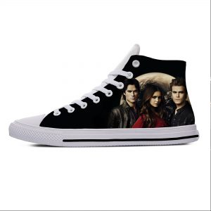 The Vampire Diaries Damon Salvatore Fashion Funny Casual Cloth Shoes High Top Lightweight Breathable 3D Print - Vampire Diaries Merch
