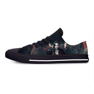 The Vampire Diaries Damon Salvatore Fashion Funny Casual Cloth Shoes Low Top Lightweight Breathable 3D Print - Vampire Diaries Merch