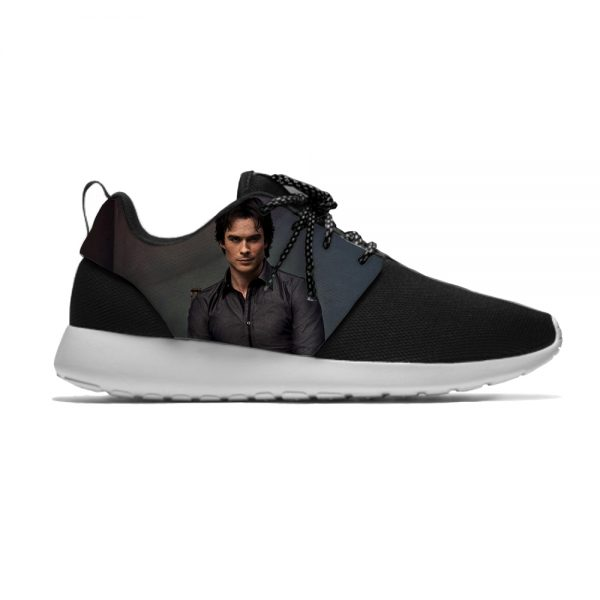 The Vampire Diaries Damon Salvatore Funny Fashion Sport Running Shoes Casual Breathable Lightweight 3D Print Men 1 - Vampire Diaries Merch
